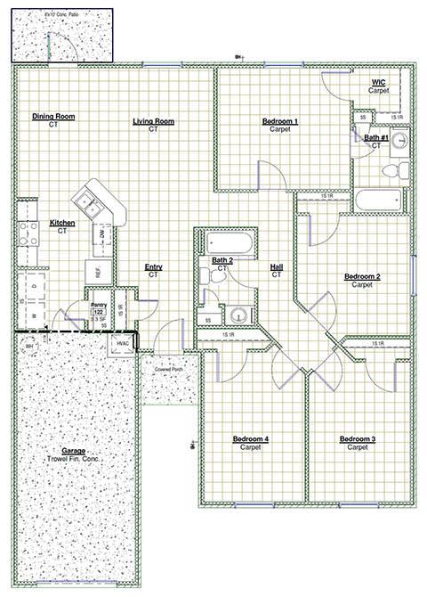 Floor Plan  4 Bedroom Floor Plan