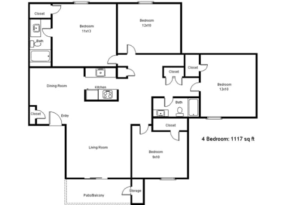 Floor Plan  4 Bedroom Floor Plan