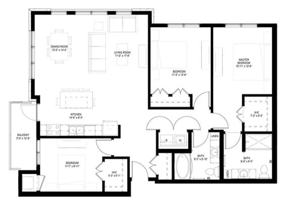 Floor Plan  3 Bedroom Floor Plan