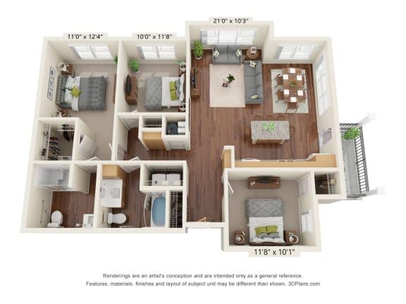 Floor Plan  Grayson Ridge_3 Bedroom Floor Plan_C1-ADA