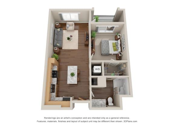 Floor Plan  Solstice of Mesa_1 Bedroom