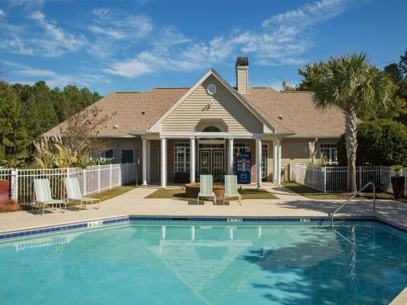 Blue Cool Swimming Pool at Litchfield Oaks Apartments, Pawleys Island, SC, 29585