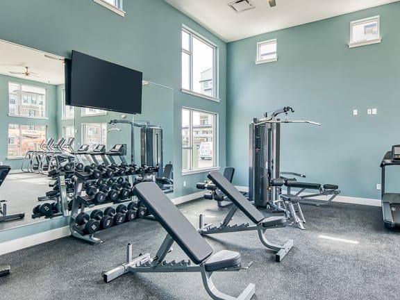 Fitness Center at Lumen Apartments