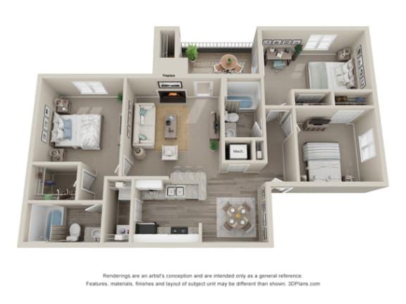 1 2 3 Bedroom Apartments In Cary Nc Amberwood Floor Plans