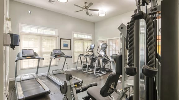 Fully-Equipped Fitness Center at Beacon Place Apartments