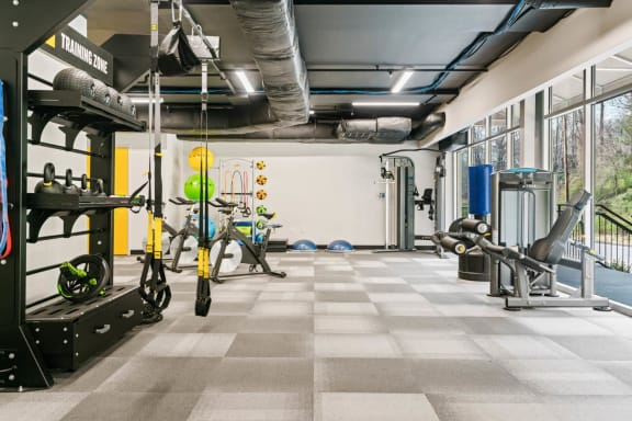 Weight Training Room at Rivers Walk, Boone
