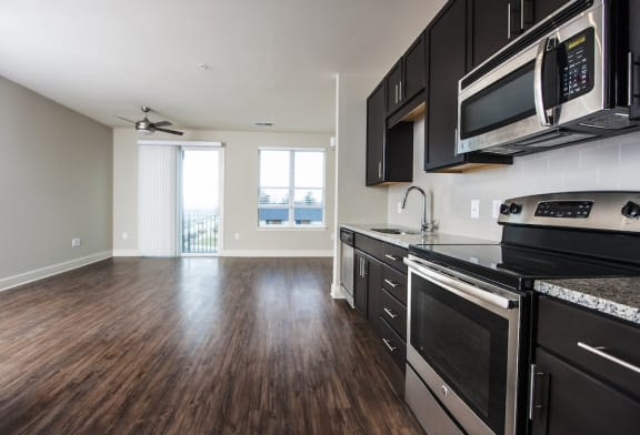 Kitchen With Appliances at The Lincoln, Raleigh, 27601