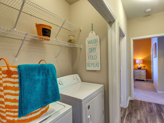 Washer and Dryer at luxury apartments in Charlotte NC