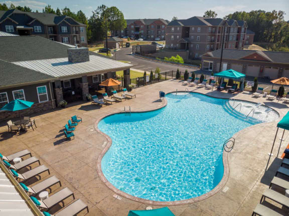 Saltwater Pool with Extended Sun Deck Open Year-Around at Evolve at Tega Cay, South Carolina