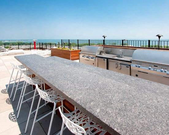 Rooftop BBQ at The Belmont by Reside Apartments, Illinois, 60657-4830