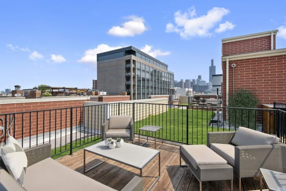 Roof Deck at Reside on Jackson