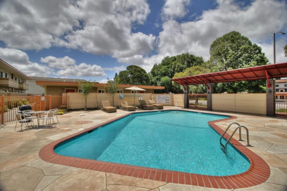 Pool view at 720 North Apartments Sunnyvale CA
