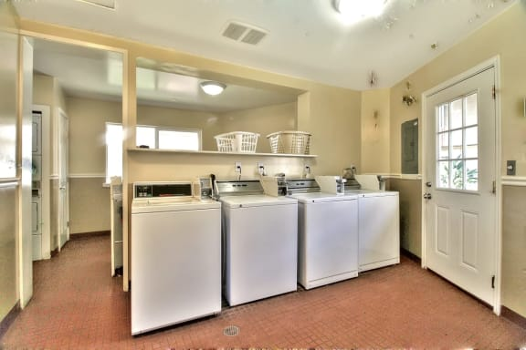 laundry facilities at Latham Court, Mountain View, CA, 94040