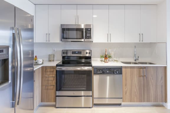 Chef-Inspired Kitchens Feature Stainless Steel Appliances at Twenty2 West, West Miami, Florida