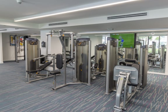 Fitness Equipment  at Twenty2 West, West Miami, FL