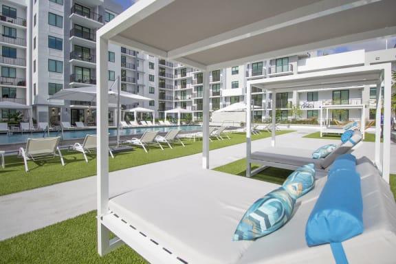 Sun Deck And Poolside Cabanas at Twenty2 West, Florida
