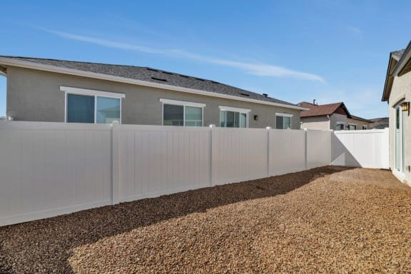 Spacious Backyards at Parke Place Apartments, P.B. BELL Assets Management Prescott Valley