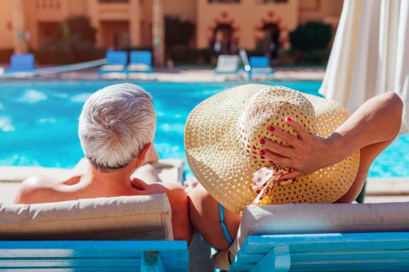 Couple Sun Bathing at Parke Place, Prescott Valley, Arizona