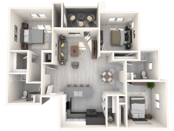 Floor Plan  BARLETT Floor Plan at The Premiere at Eastmark Apartments, Mesa, AZ, 85212