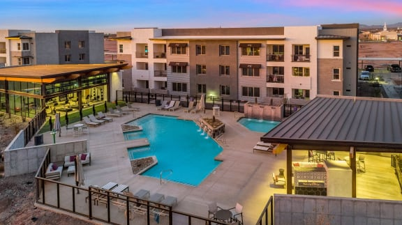 Resort Style Pool and Spa at The Premiere at Eastmark Apartments, Mesa, 85212
