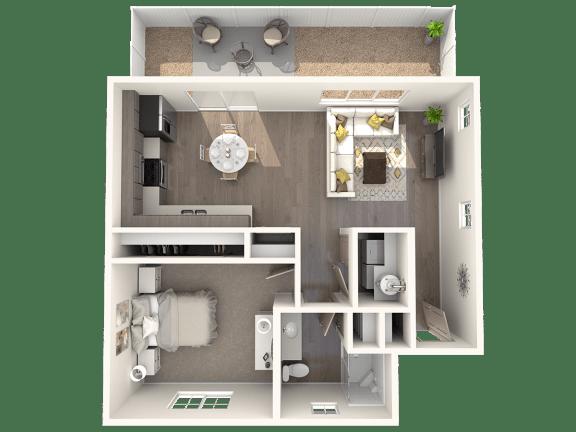 TG Plan 1 at Parke Place Apartments, P.B. BELL, Prescott Valley, AZ