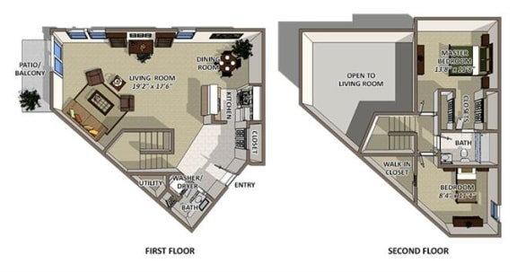 Floor Plan  Bermuda floor plan at The Villages of Banyan Grove Apartments in Boynton Beach
