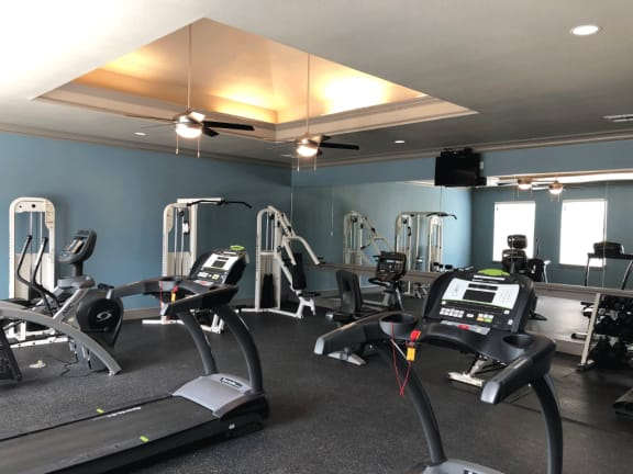 24 Hour Fitness Center at Stoneleigh on Cartwright Apartments, J Street Property Services, Mesquite