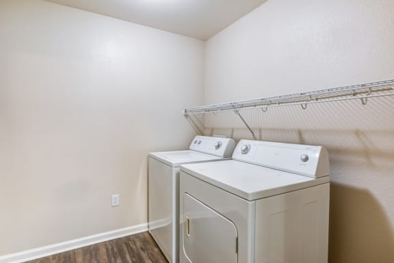 Full-sized side-by-side washer & dryer at Harvest Park Apartments