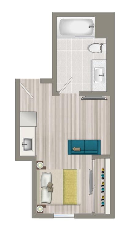Floor Plan  Furnished Studio Boutique Suite EBB
