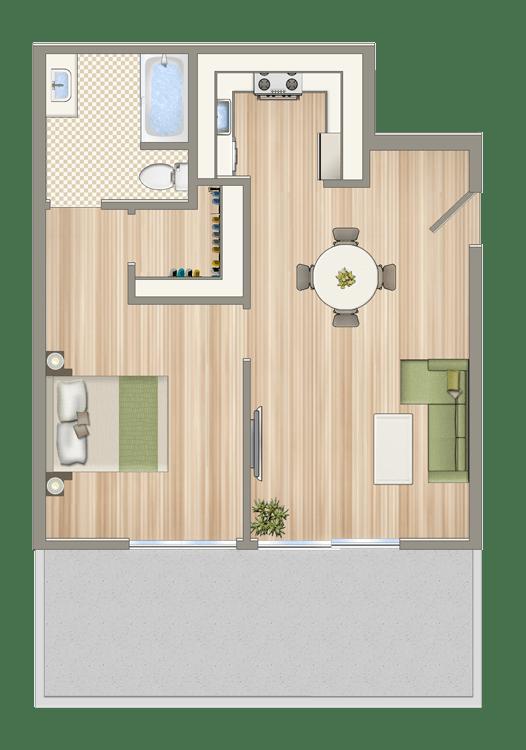 Floor Plan  Luxe@1430_7th_unit_C1