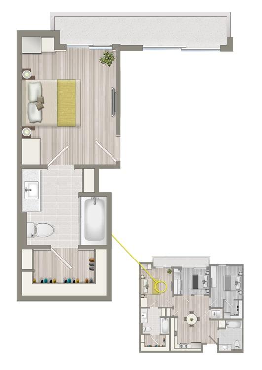 Floor Plan  Ascent Co-Living Master Suite