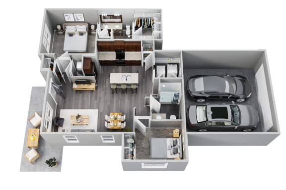 2 Bedrooms, 2 Baths, 1st Floor, 2 Car Garage, Private Patio