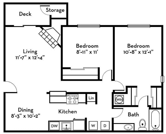 Two Bedrooms One Bath