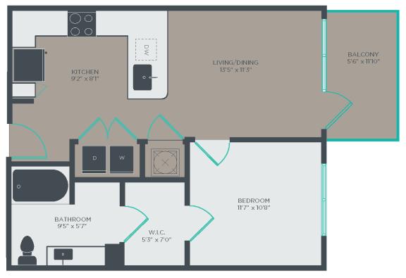 A3-A Floor Plan at Link Apartments® Linden, North Carolina