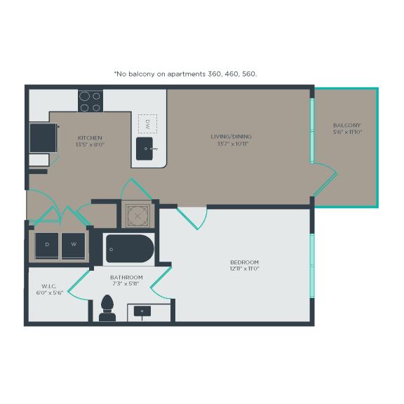 A3 Floor Plan at Link Apartments® Linden, Chapel Hill