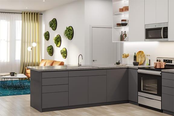 Custom Cabinets at Link Apartments® Linden, Chapel Hill