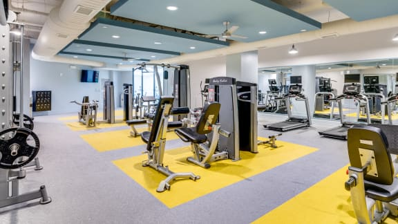 Modern Fitness Center at Link Apartments® Grant Park, Georgia
