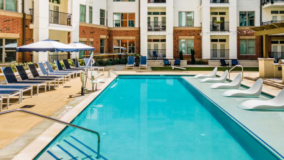 Swimming Pool With Relaxing Sundecks at Link Apartments® Grant Park, Atlanta, Georgia