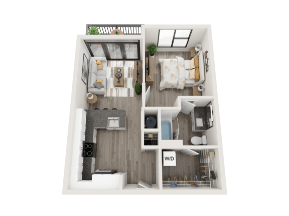 Floor Plan  A1 Floor Plan at Link Apartments® Montford, Charlotte, North Carolina