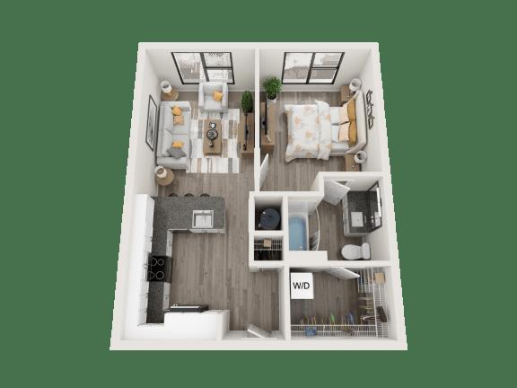 Floor Plan  A2 Floor Plan at Link Apartments® Montford, North Carolina