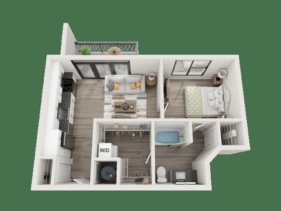 Floor Plan  J3 Floor Plan at Link Apartments® Montford, Charlotte, NC