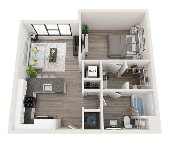 Floor Plan  A3 Floor Plan at Link Apartments® Montford, Charlotte, 28209