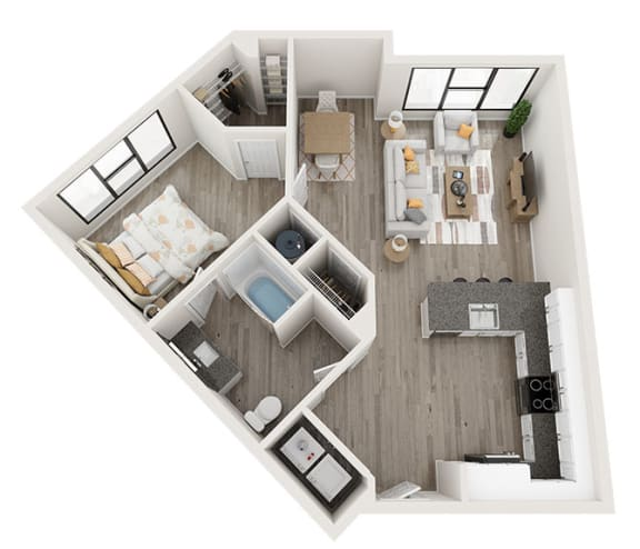 Floor Plan  A4_A Floor Plan at Link Apartments® Montford, Charlotte