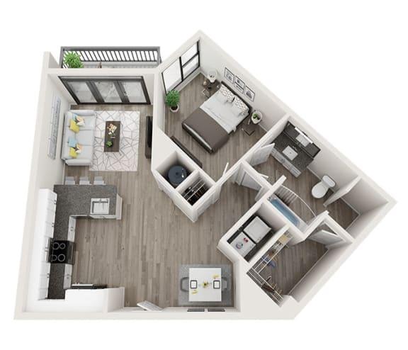 Floor Plan  A5 Floor Plan at Link Apartments® Montford, North Carolina
