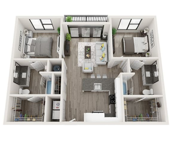 Floor Plan  B1 Floor Plan at Link Apartments® Montford, Charlotte, NC, 28209
