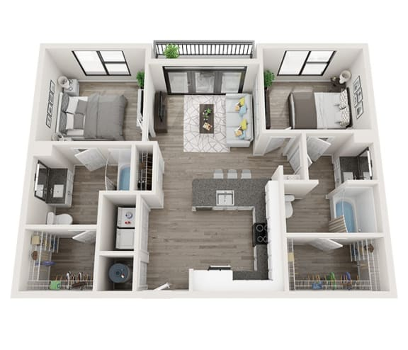 Floor Plan  B2 Floor Plan at Link Apartments® Montford, Charlotte, NC