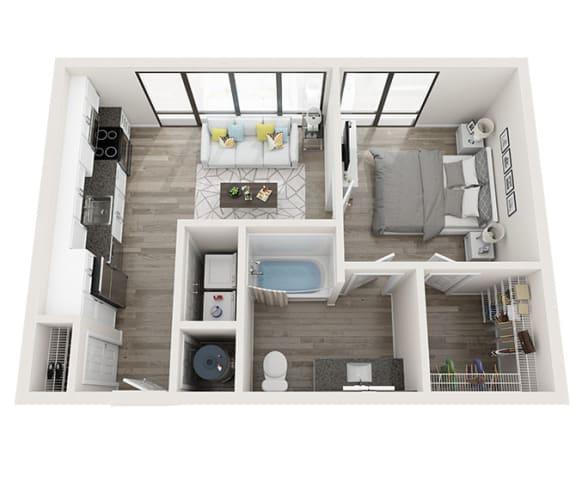 Floor Plan  S2_A Floor Plan at Link Apartments® Montford, Charlotte, 28209