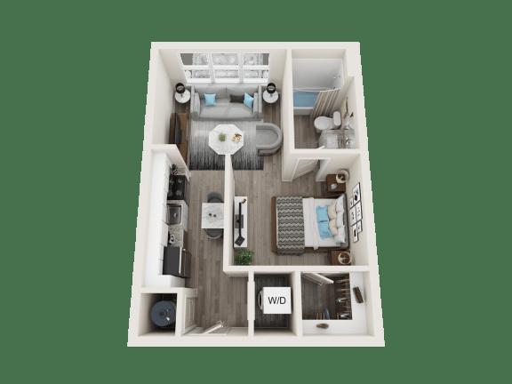 Floor Plan  A1 Floor Plan at Link Apartments® Linden, Chapel Hill, NC, 27517