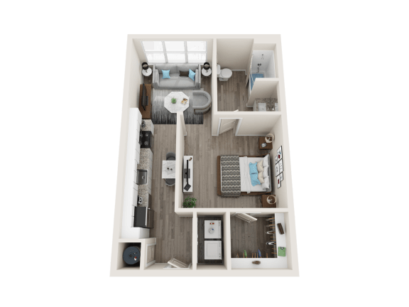 Floor Plan  A1_A Floor Plan at Link Apartments® Linden, Chapel Hill, NC