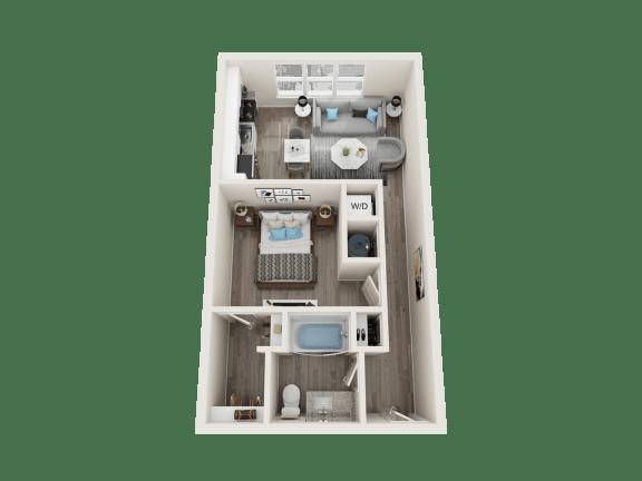 A2 Floor Plan at Link Apartments® Linden, Chapel Hill, 27517